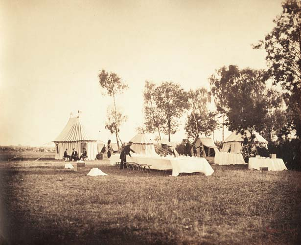 Gustave Le Gray - Preparation of the Emperor's Table, Camp de Chalons