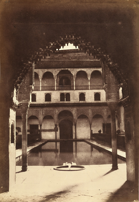 Alphonse De Launay - View of the Alhambra, Great Courtyard in Front of Ambassador's Hall
