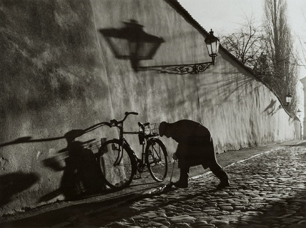 Stanko Abadžic - Untitled (Man Repairing Bicycle Tire)