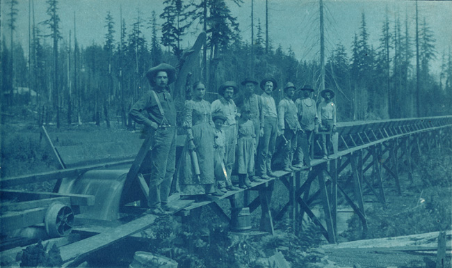 Anonymous - Flume Being Built from Newakum River to Chehalis
