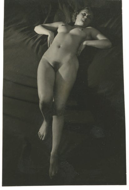 Brassai (Gyula Halasz) - Contact Print of Female Nude, Paris