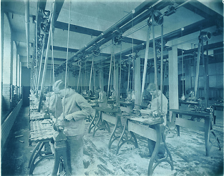 Anonymous - Boys at Work on Lathes