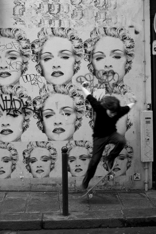 Stanko Abadžic - Madonna and Boy on a Skateboard (from the Paris Cycle)