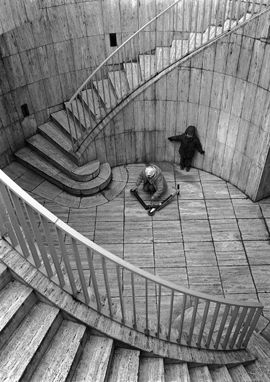 Stanko Abadžic - Boys, Scooter and Stairs (from the Paris Cycle)