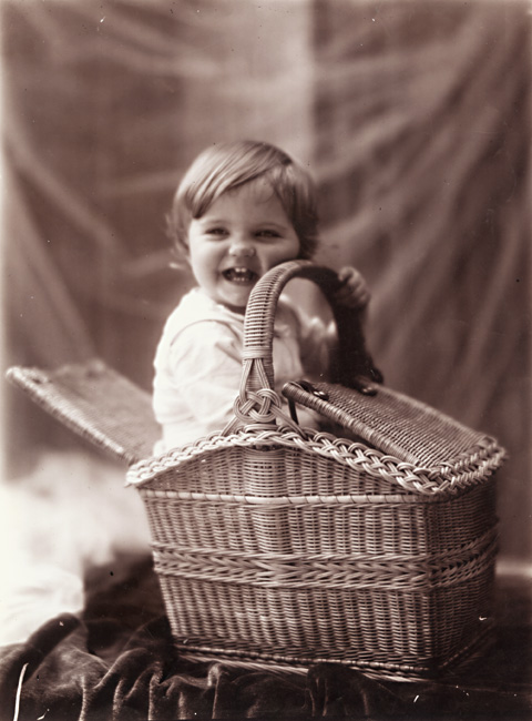 Leonard Misonne - One of the Photographer's Sons and a Picnic Basket