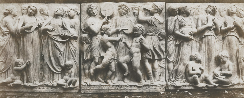 Photo Exhibit | Detail | Charles Marville (dit), Charles-François Bossu - Marble Base-Relief by Luca Della Robbia
