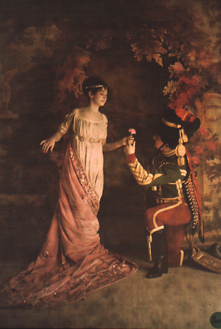 Louis and Auguste Lumiere (attributed to) - A Soldier Offering a Maiden a Flower