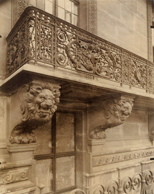 Photo Exhibit | Detail | Jean-Eugene-Auguste Atget - Balcony, Louvre