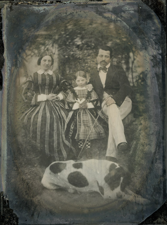 Anonymous - French Family and Dog