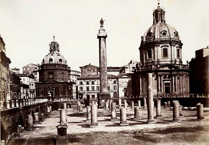 Altobelli and Moulins (attributed to) - Trajan's Column and Forum, Rome, Italy