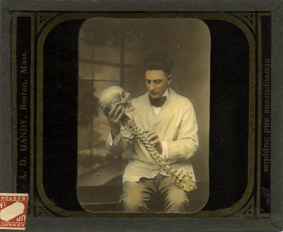 A. D. Handy - Scientist with Partial Skeleton and Skull