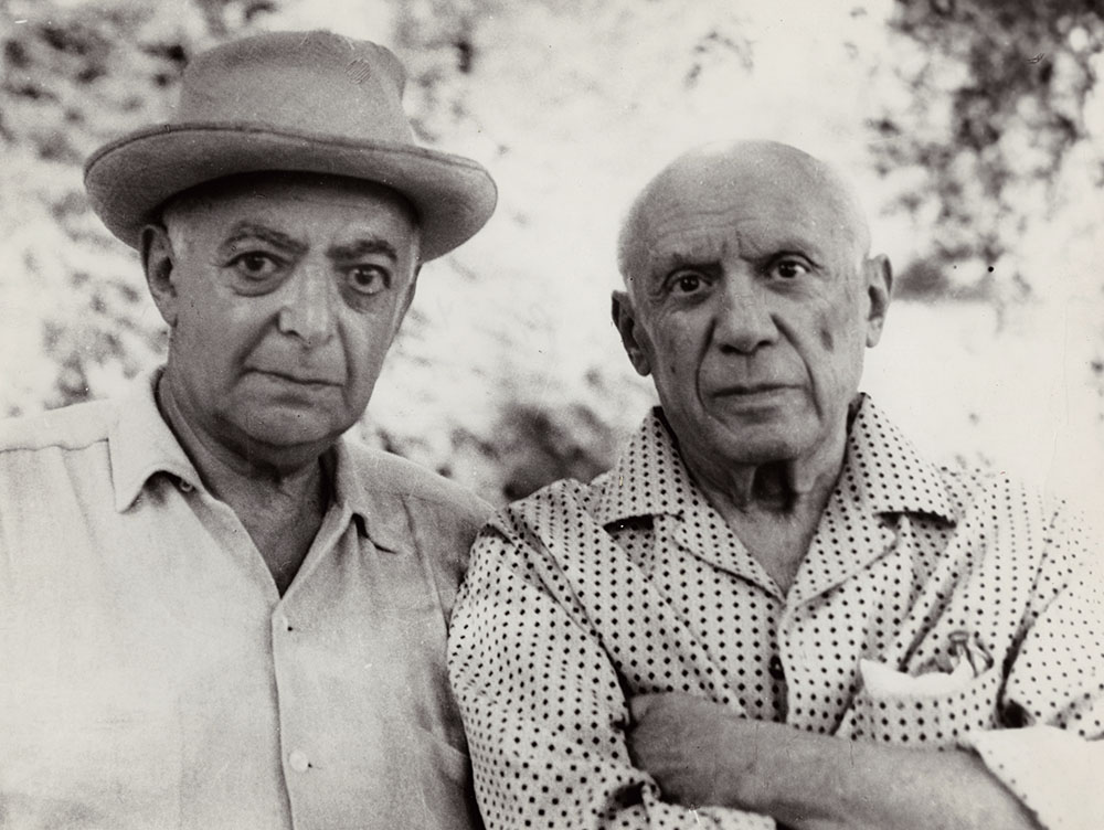 Brassai (Gyula Halasz) - Self-Portrait of Brassai with Picasso