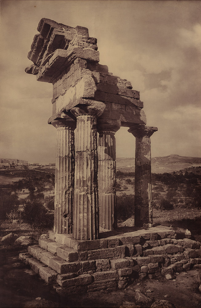 Adolphe Braun & Co. - Vertical Panorama of Ruins of Temple of Castor and Pollux