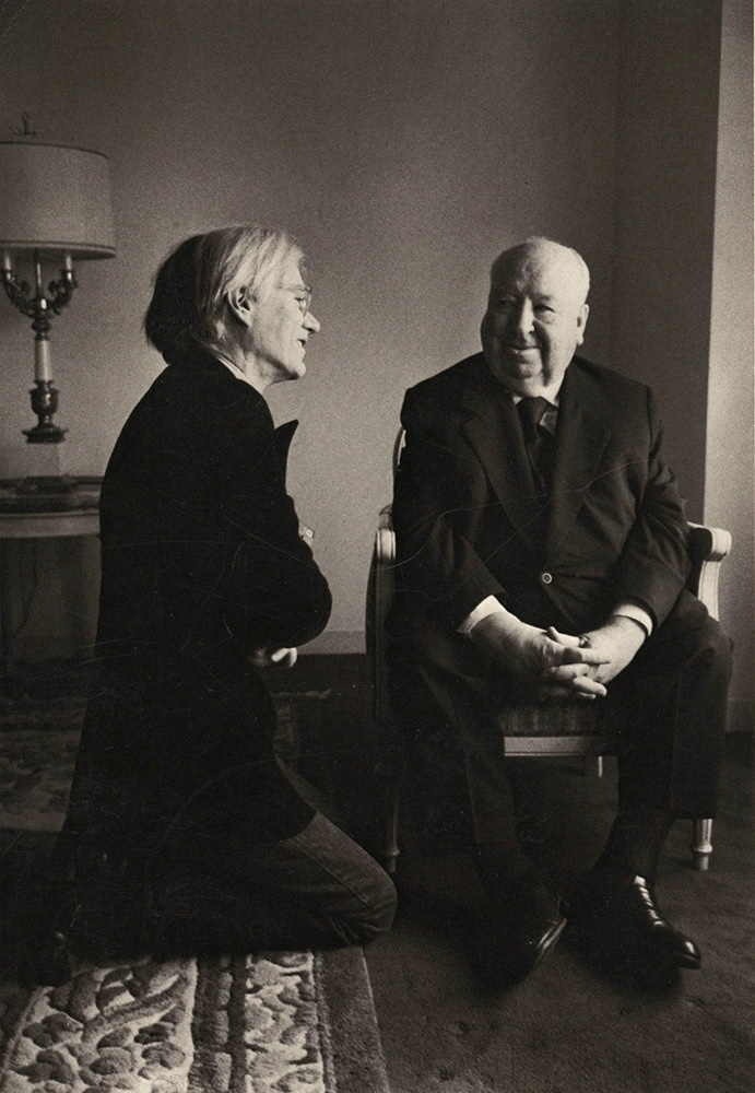 Jill Krementz - Andy Warhol and Alfred Hitchcock, New York City