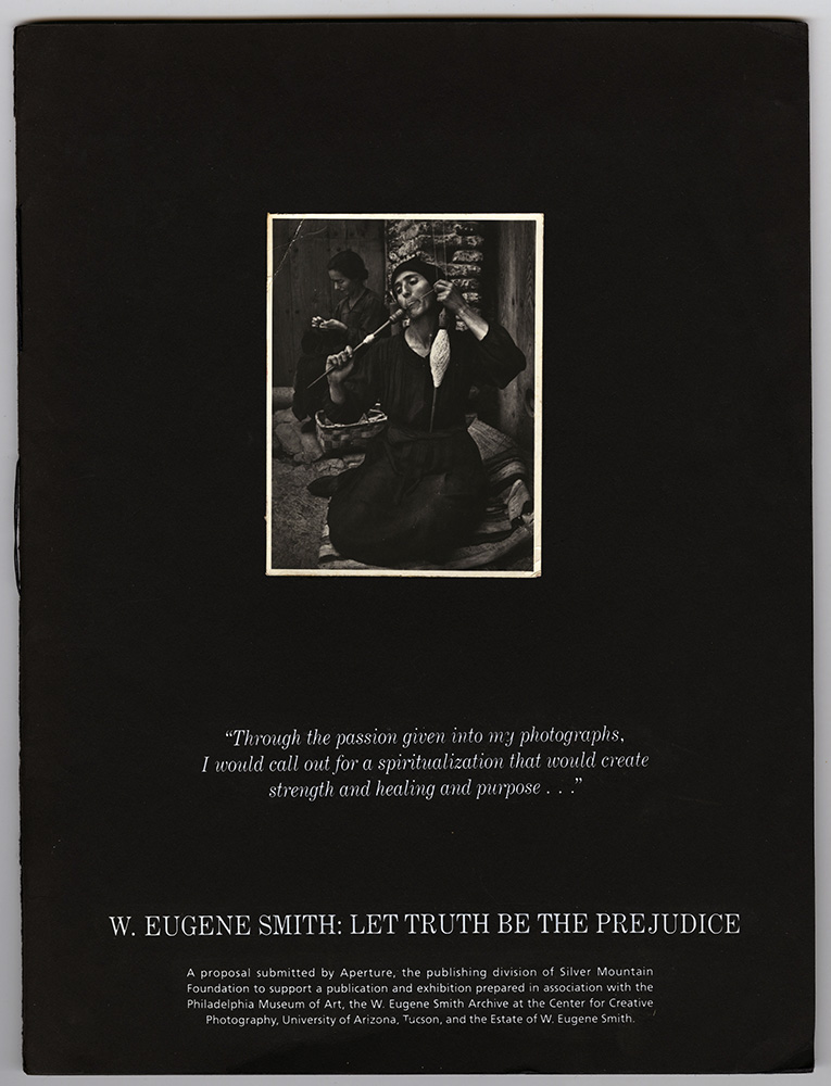 W. Eugene Smith - Let Truth Be The Prejudice exhibition and book proposal