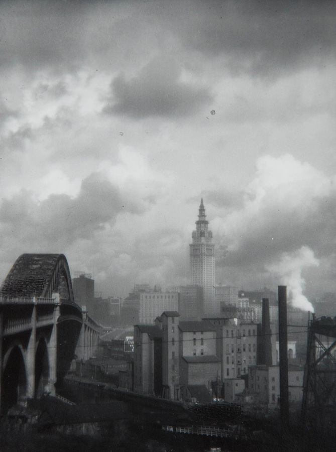 Margaret Bourke-White - Terminal Tower with Bridge, Cleveland