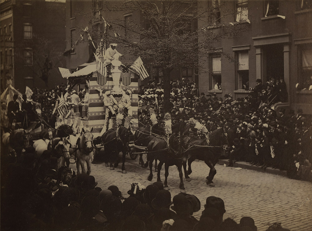 Samuel W. Bridgham - Group of Four Images of Civic Parade in NYC from Centennial of Washington's Inauguration