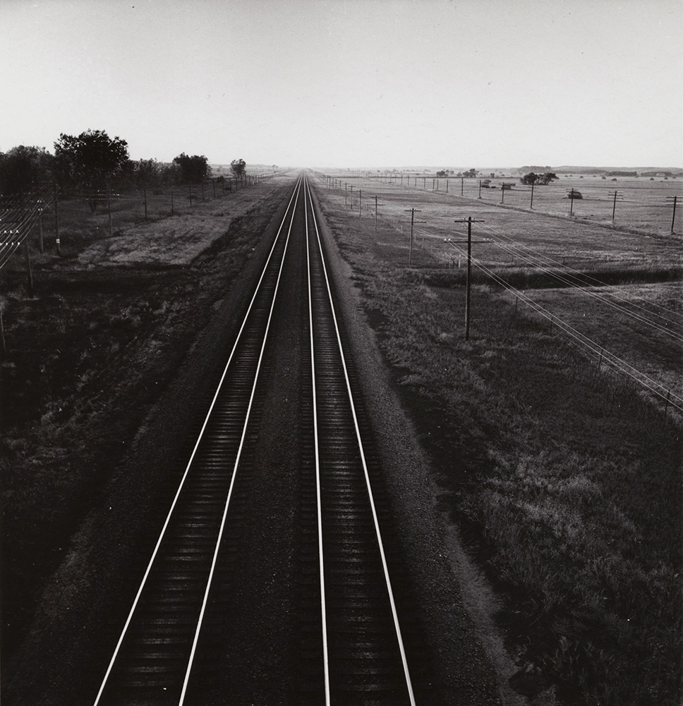Andreas Feininger - Railroad Tracks, Nebraska