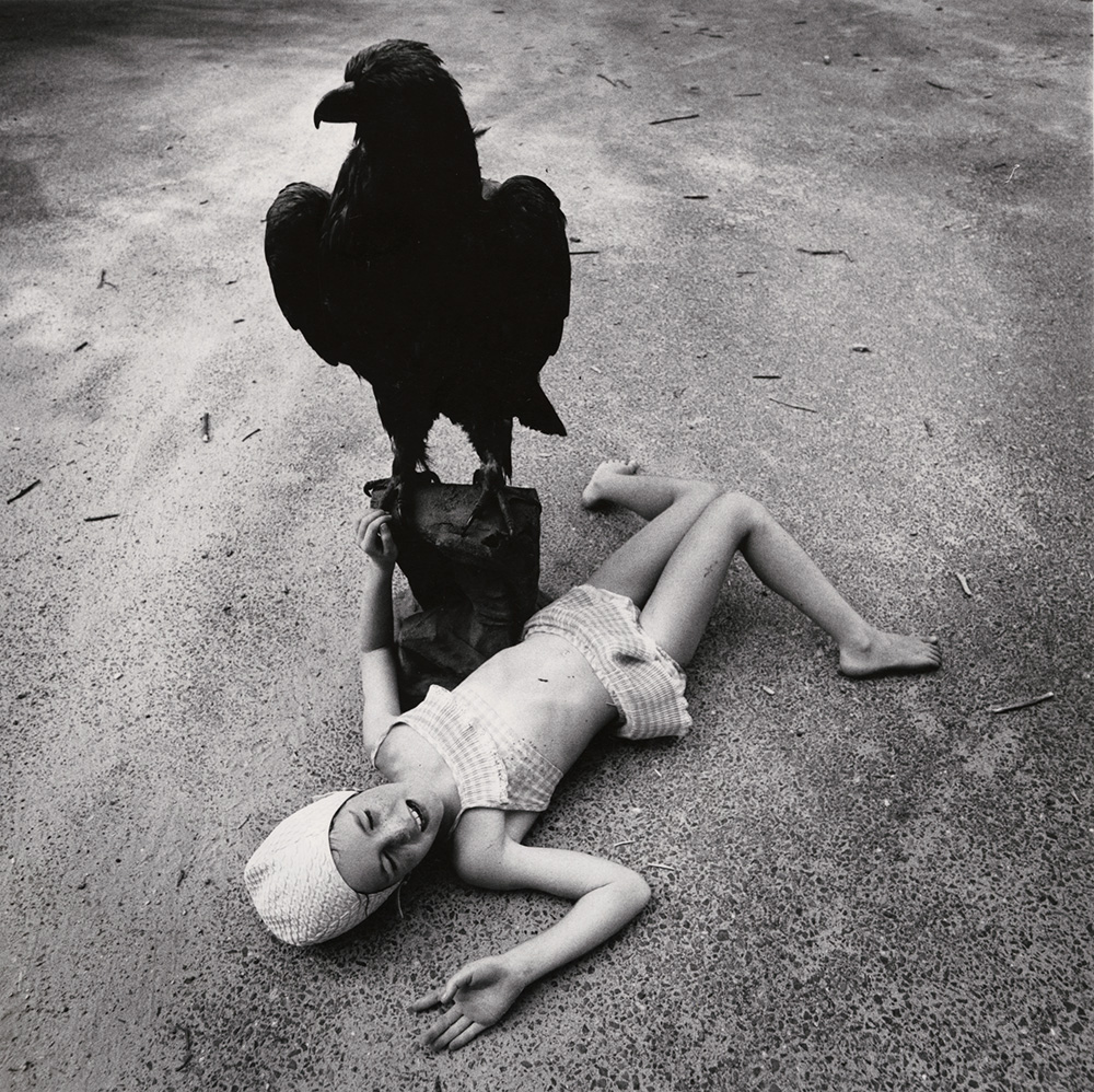 Arthur Tress - Girl in Bathing Suit with Eagle, Massachusetts