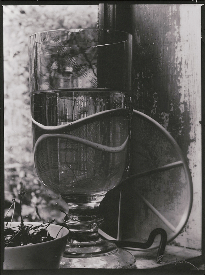 Josef Sudek - Still Life of Cherries and Glass