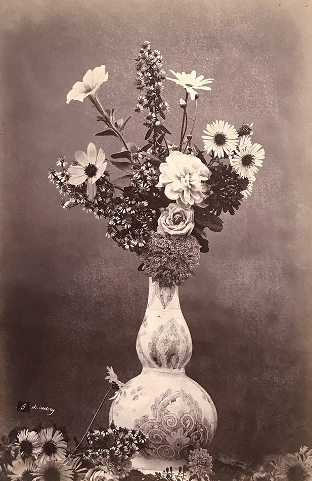 Photo Exhibit | Detail | Charles Hippolyte Aubry - Flower Arrangement in Narrow Neck Vase
