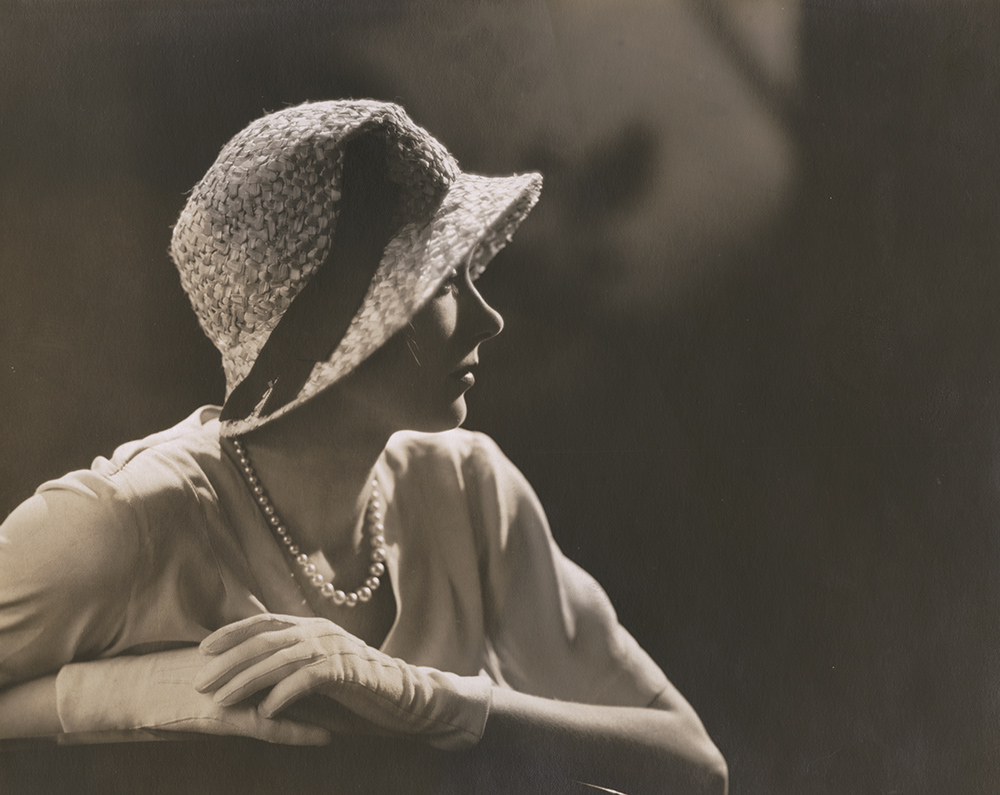 Vogue Magazine Photographer - Woman with Pearls and Hat