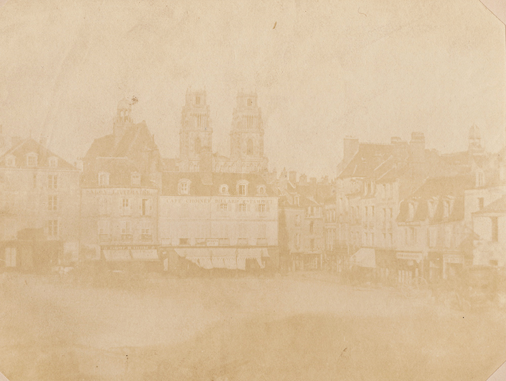 William Henry Fox Talbot - The Principal Place in the City of Orleans. From Nature.