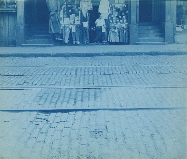 Anonymous - Street Scene with Trolley Tracks