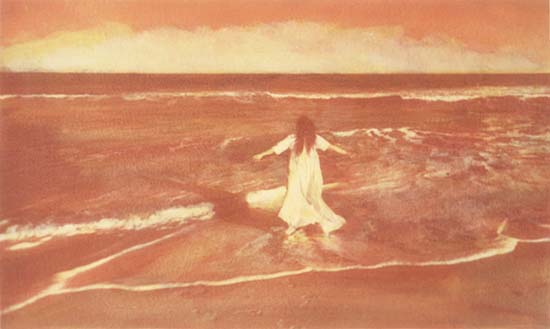 Ted Jones - Margot (Woman Walking out to Ocean)