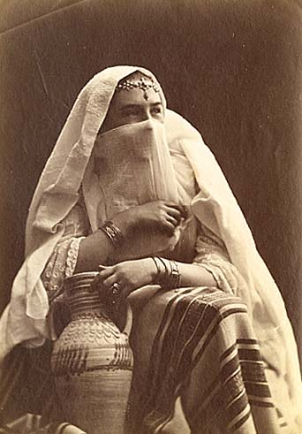 Anonymous - Portrait of a Veiled, Algerian Woman