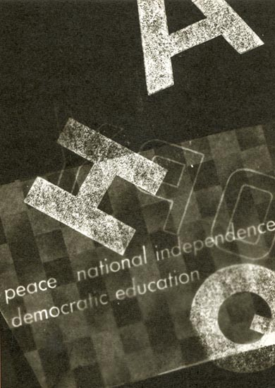 Lois Field - Peace National Independence Democratic Education (Photogram)
