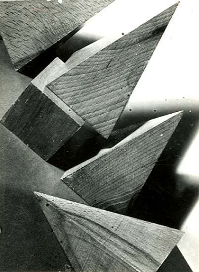 Milos Dohnany - Three Modernist Prints of Wooden Shapes and Shadows