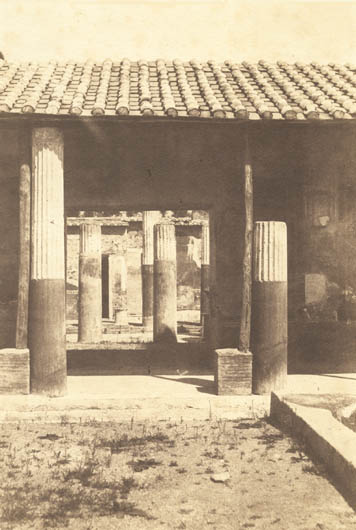 Gustave Le Gray/Firmin-Eugène Le Dien - Ruined Columns at Pompeii