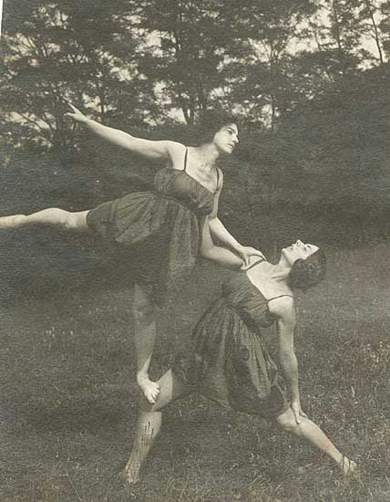 Charles Trampus - Dance Company of Jeanne Ronsay at St. Cloud, France (4 Images)