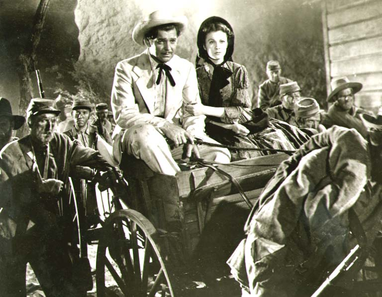 Clarence Sinclair Bull or Fred Parrish - Clark Gable and Vivien Leigh in Gone with the Wind