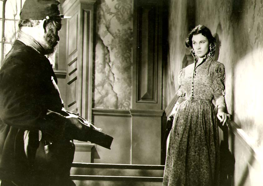 Clarence Sinclair Bull or Fred Parrish - Vivien Leigh with Yankee Deserter in Gone with the Wind