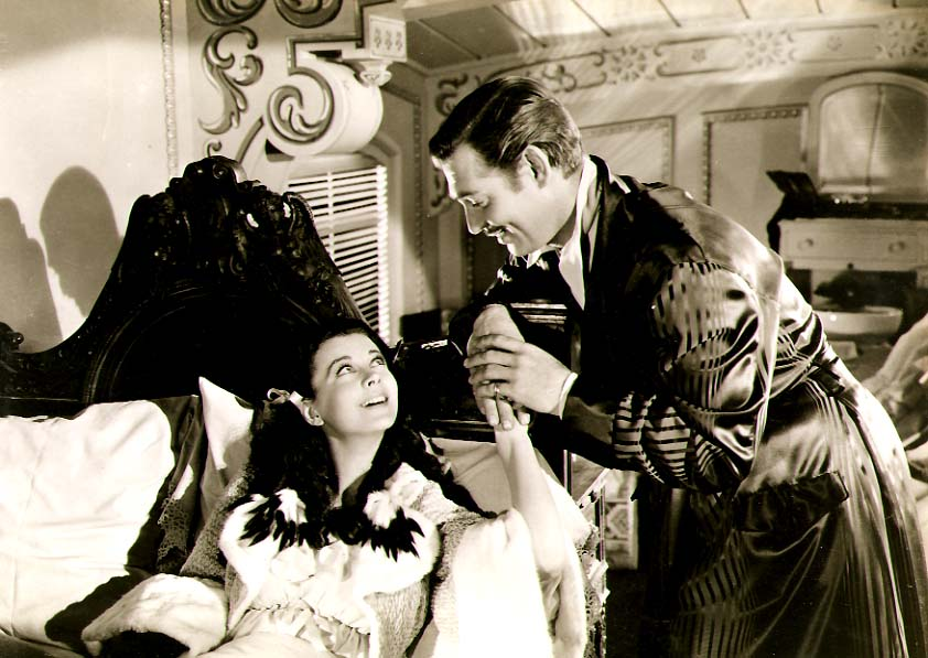 Clarence Sinclair Bull or Fred Parrish - Vivien Leigh and Clark Gable in Gone with the Wind
