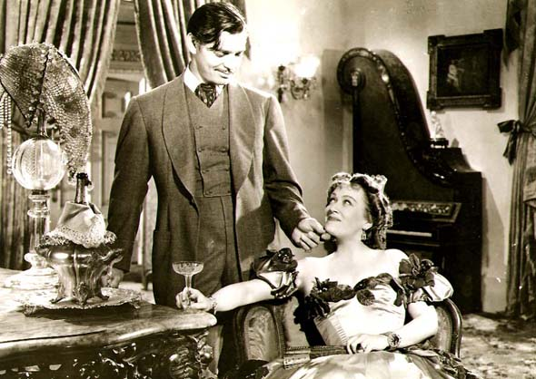 Clarence Sinclair Bull or Fred Parrish - Clark Gable and Ona Munson in Gone with the Wind