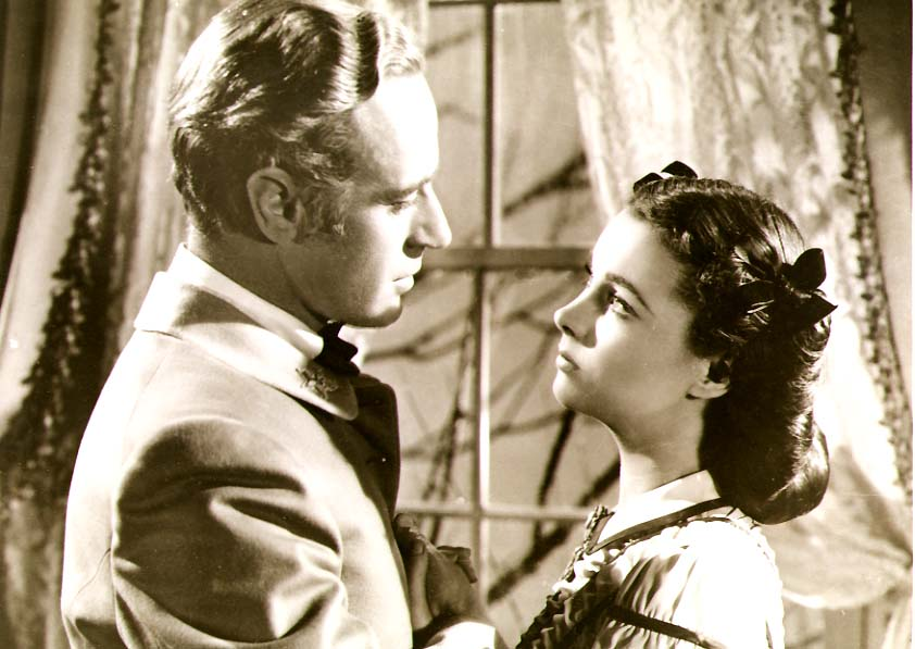 Clarence Sinclair Bull or Fred Parrish - Leslie Howard and Vivien Leigh in Gone with the Wind