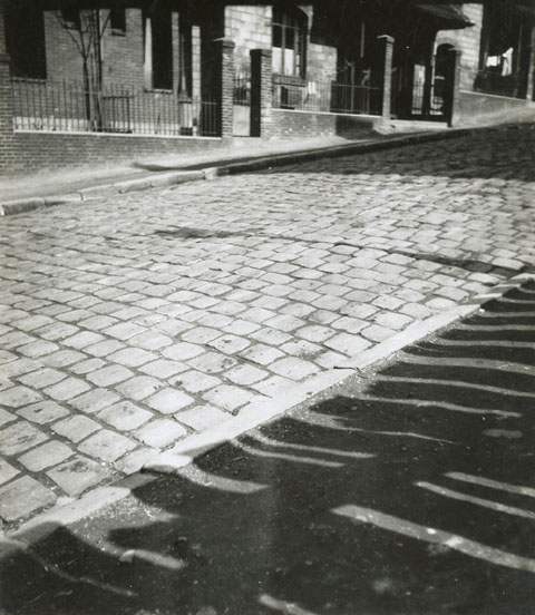 Geza Vandor - Cobblestone Street and Shadows, Paris