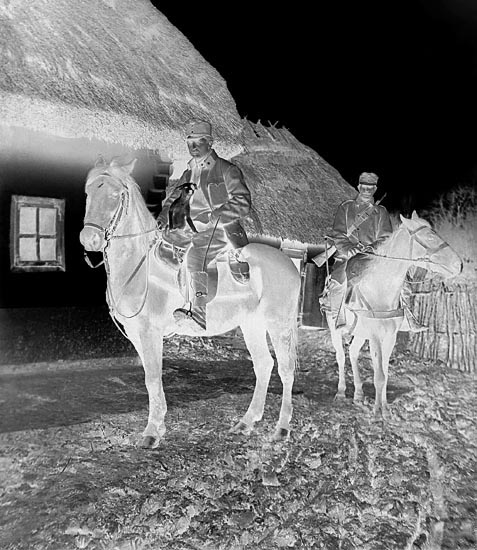 Anonymous - Austrian Soldiers on Horseback Holding Dog, WWI