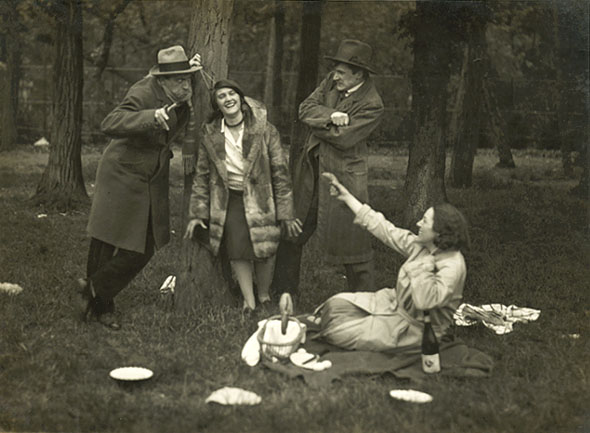 André Kertész - A Picnic Party in Bois de Boulogne, Paris