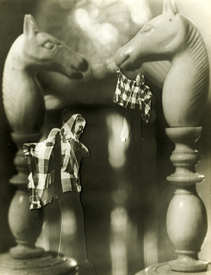 Francois Kollar - Photomontage with Chess Pieces and Woman