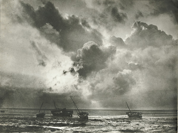 Edith Gerin - Clouds and Seascape with Boats (Multiple Exposure)