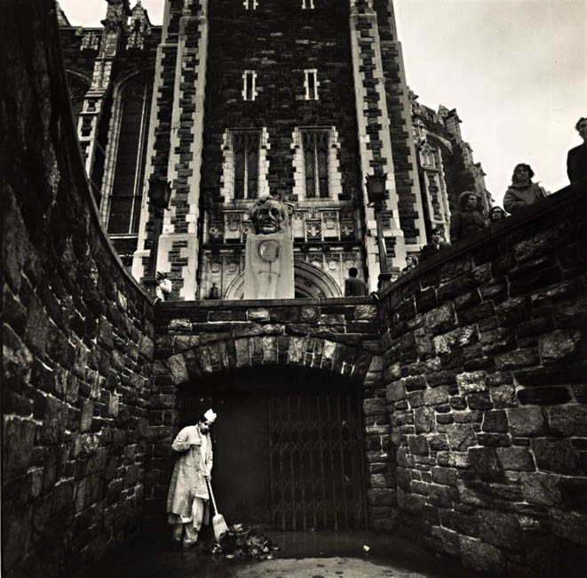 Arthur Tress - City College, A Minority Worker in the Halls of Higher Education, New York City, NY