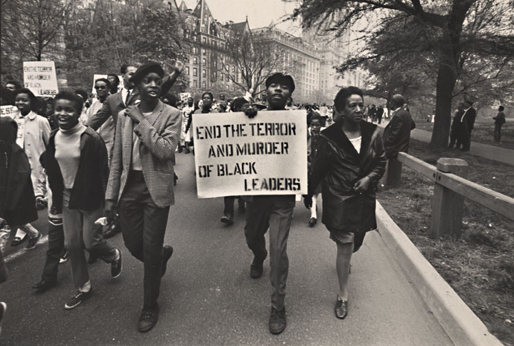 Tim Kantor - Black Power Demonstrators, New York City, NY