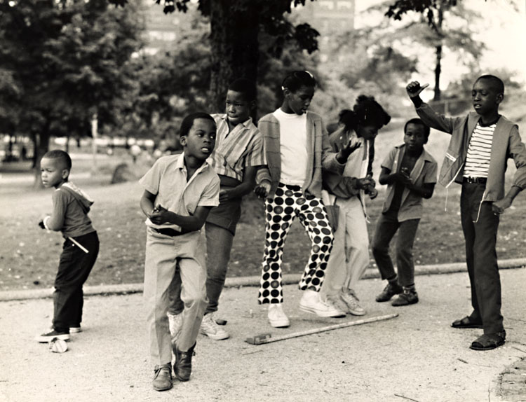 Arthur Tress - Black Children Dance to Rock 'n Roll in in Harlem's Mount Morris Park, New York City, NY