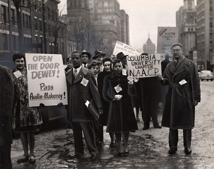 Llewellyn Ransom - N.A.A.C.P. Demonstrators, New York City, NY