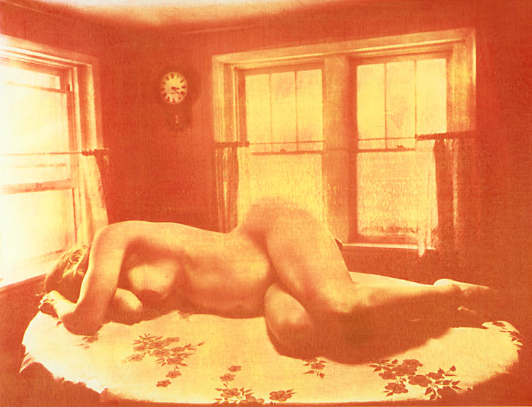 Ted Jones - Female Nude on Table