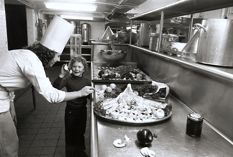Susan McCartney - Caroline with Chef